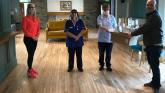 Crucial face guards provided for staff at Foyle Hospice to help protect them from coronavirus