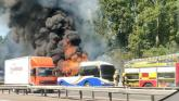 212 bus from Derry to Belfast catches fire on the M2 motorway
