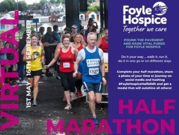 Registration now open for Foyle Hospice Virtual Half Marathon