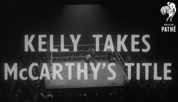 WATCH: Boxer Billy 'Spider' Kelly training in preparation for British featherweight title (1955)