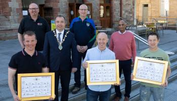 Mayor of Derry City and Strabane District Council celebrates success of charity cycle