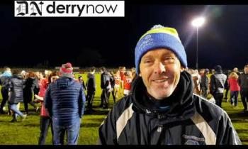 WATCHL Magherafelt ladies manager Peter Young's reaction on winning the intermediate title