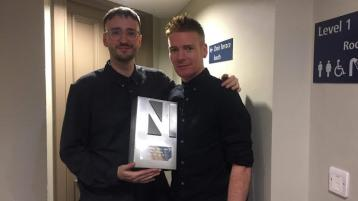 Derry winners Ryan Vail andElma Orchestraat the Northern Ireland Music Prize event