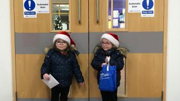 Santa's little helpers deliver a special gift to Altnagelvin nursing staff
