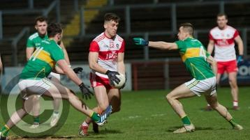 Shane McGuigan in action against Leitrim  (Pic: Tom Heaney)