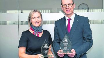 Airporter in the driving seat at Bus and Coach NI Awards