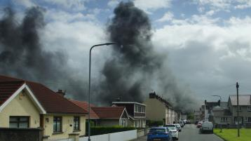 Emergency crews tackling major fire in Derry