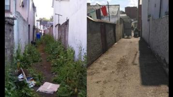 Clean-up will transform Derry lanes