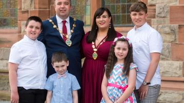 Derry's new Mayor says he will work 'day and night' to represent the people of the local area