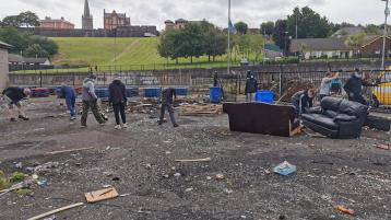 Praise for young people who help clean up an area of the Bogside in Derry plagued by trouble in recent years