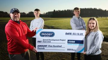 Coleraine club receive a share of £5k thanks to Boost Sport