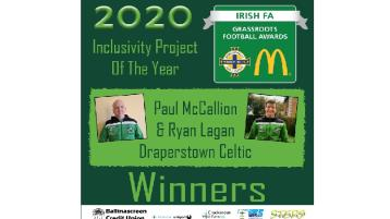 Local soccer club pick up Irish FA award for inclusivity