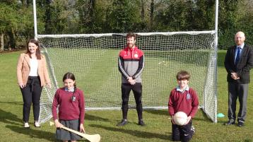 GREENLOUGH: GAA club donate equipment to primary school