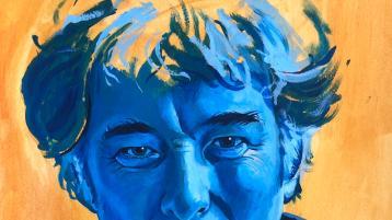 Derry football paints amazing portrait of Seamus Heaney