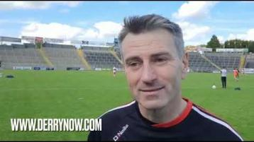 WATCH: Derry manager Rory Gallagher's thoughts on his side's win over Cavan