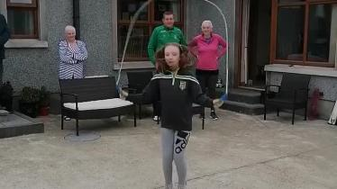 WATCH: County Derry camóg finishes skipping fundraiser