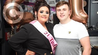 Demi Ferry's 21st birthday celebrations in the Abercorn Bar