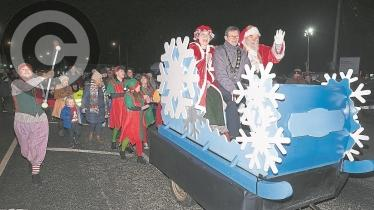Gallery: Santa switches on the lights in Maghera