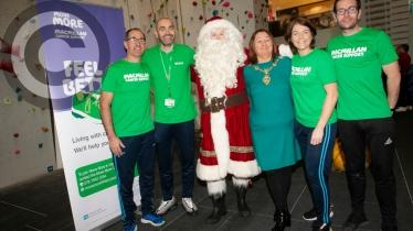 Gallery: Council Everest Climb Team smash their target at the Foyle Arena