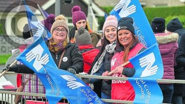 GALLERY: Healthcare Workers on the Picket Line