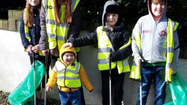 GALLERY: Watty Graham's volunteers clean up  the Glen area