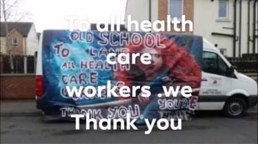 WATCH: Derry applauds health workers.