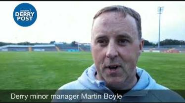 WATCH: Martin Boyle's reaction as Derry minors win Ulster title