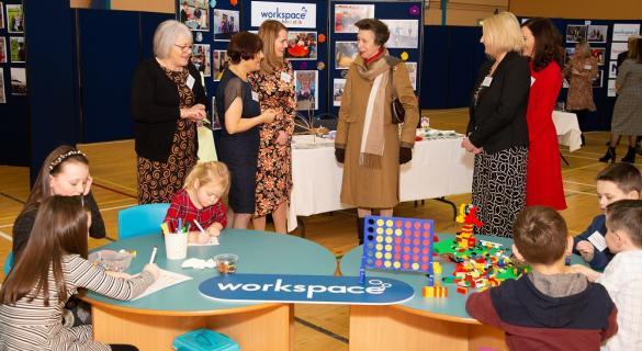 Princess Royal visits Workspace Group