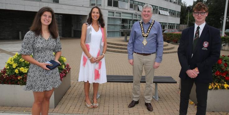 World Junior rowing competitors recognised by local Council for their involvement at the World Junior Championships