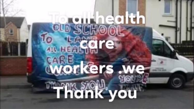 WATCH: Derry applauds health workers.