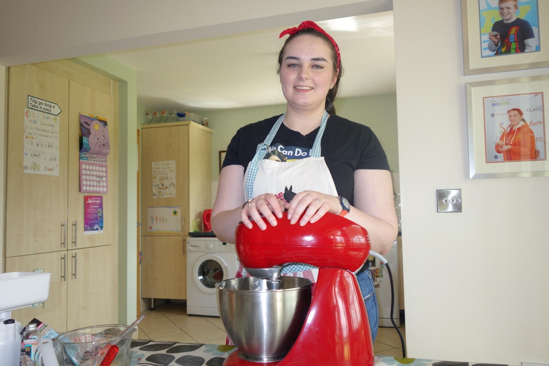 Cait Ní Cheallaigh baking at home