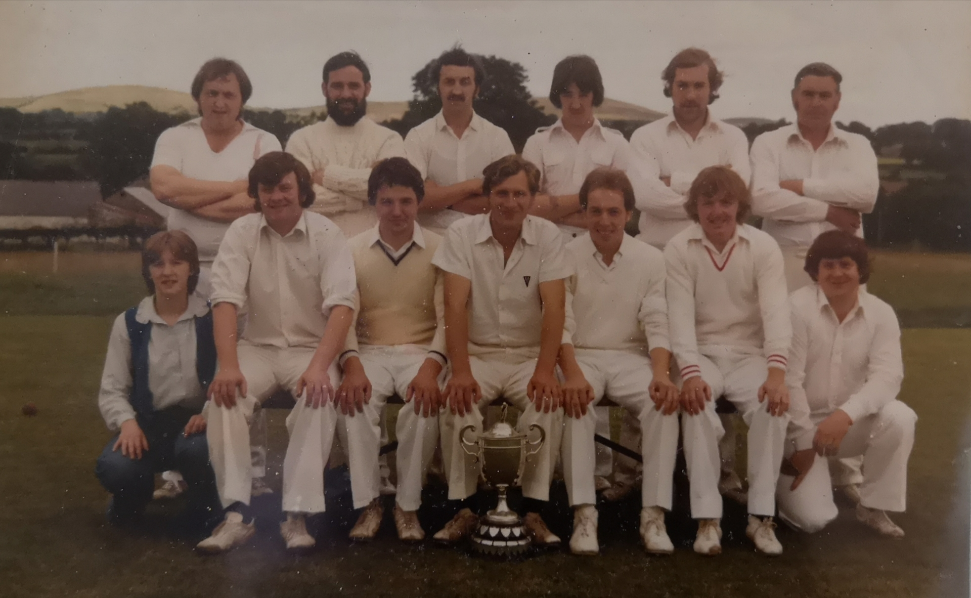 Jack Knobbs, 2nd from the right in the back row, in the local cricket team.