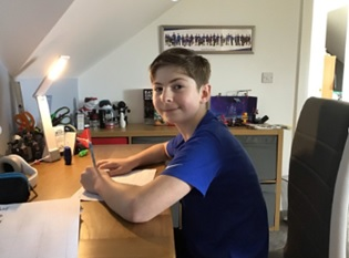 Isaac Morrison at his desk.