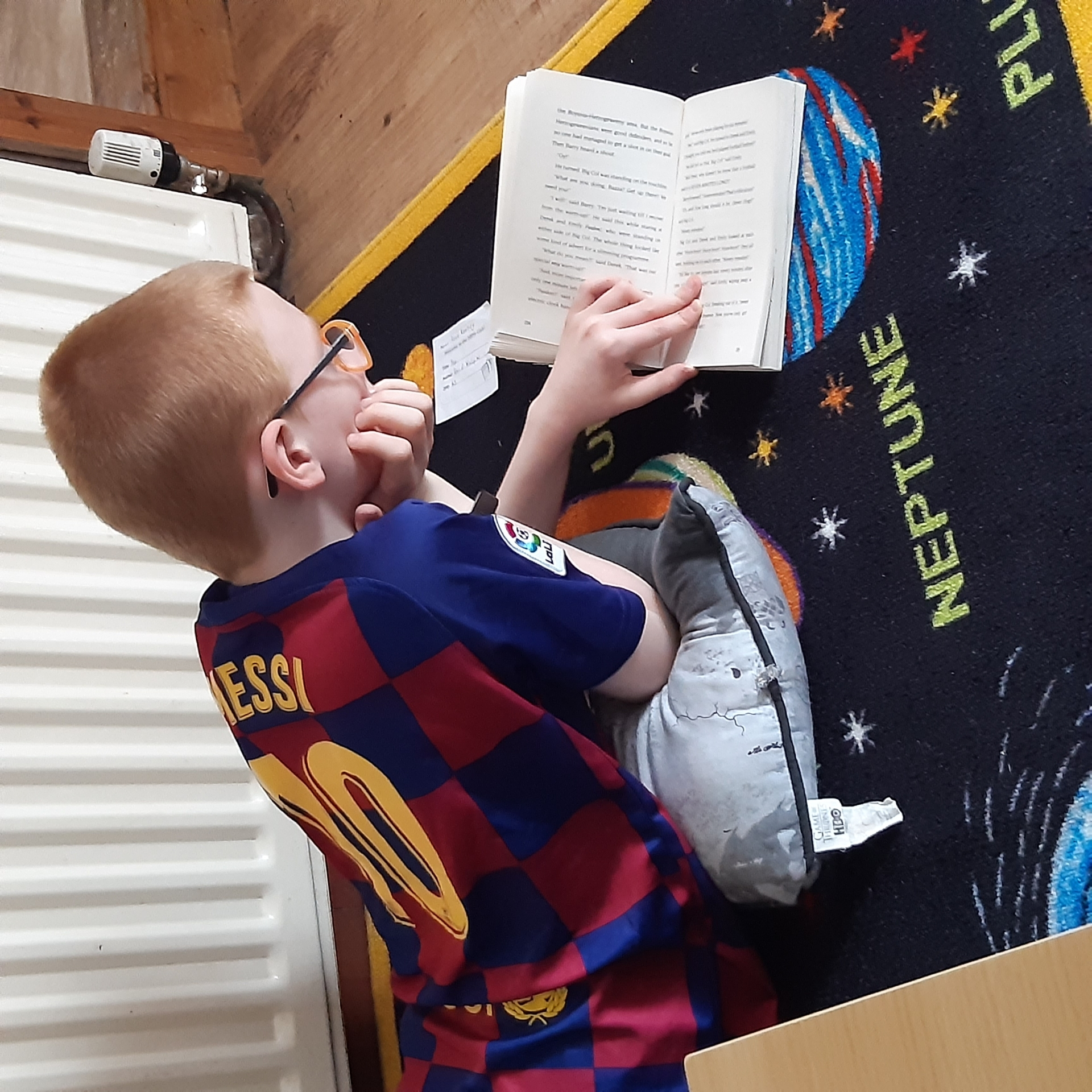 PJ Agnew from St John's PS, Swatragh catches up on his Accelerated Reading.
